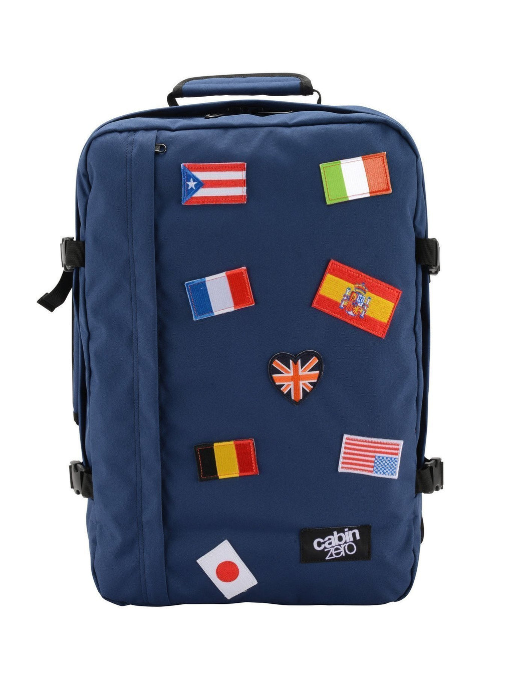 Cabinzero Classic Ultra-Light 44L Limited Edition Flags Cabin Bag in Navy Color