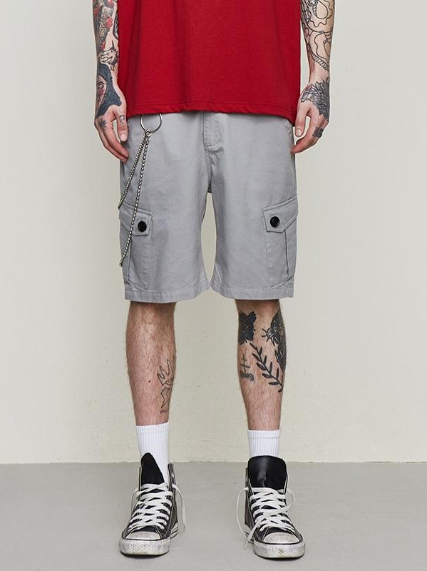 Grey Cargo Shorts - This Is For Him