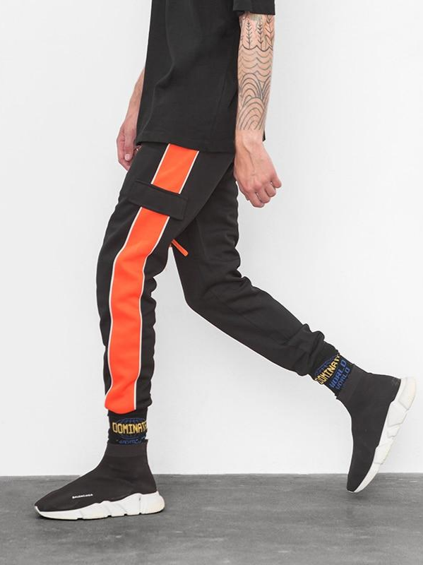 Orange Side Panel Jogger Pants - This Is For Him