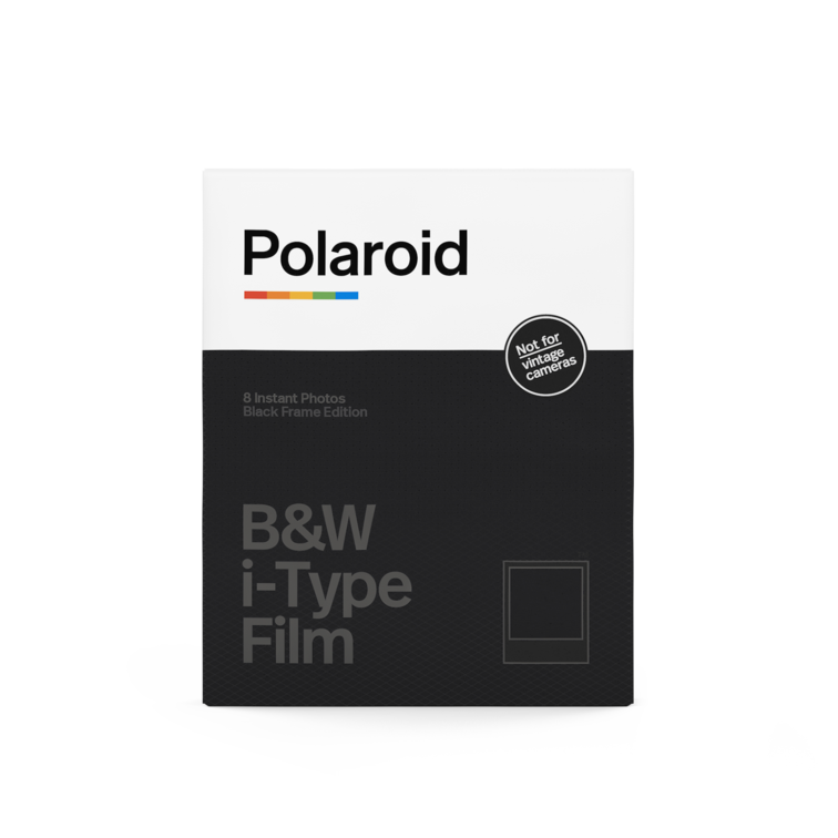 Polaroid B&W i‑Type Film ‑ Black Frame Edition