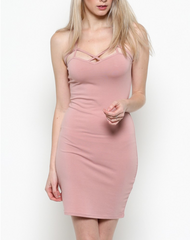 Kylie ~ Light Pink Cami Dress w/ Adjustable Straps - Proud Girl