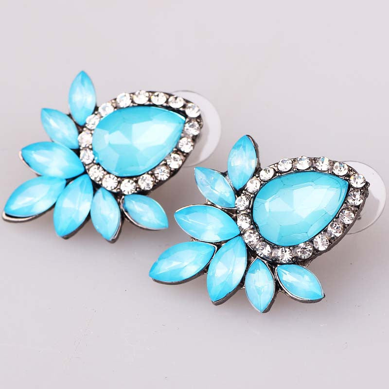 Rhinestone Gem Earrings - Proud Girl