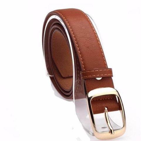 Women's Faux Leather Metal Buckle Belt - Proud Girl