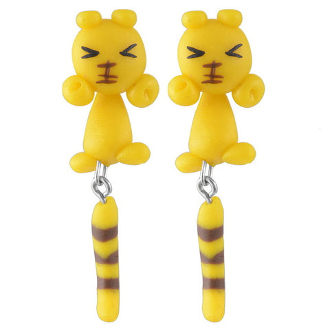 Handmade Cute Animal Pattern Earrings - Proud Girl