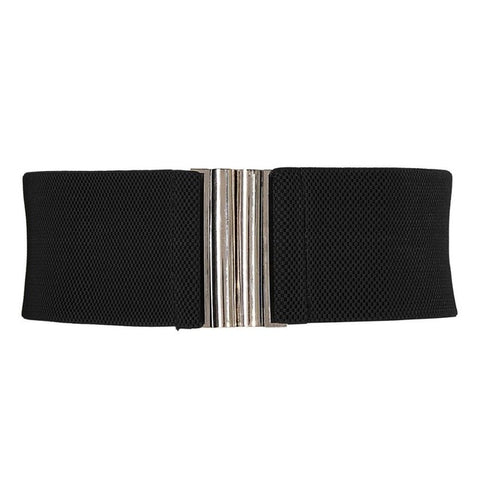 Women's Metal Hook Stretchy Elastic Waist Belt - Proud Girl