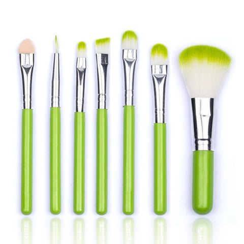 7 pcs Portable Cosmetic Brush Set - Proud Girl
