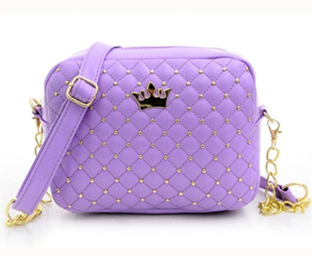 High Quality PU Leather Rivet Chain Shoulder Bag - Proud Girl
