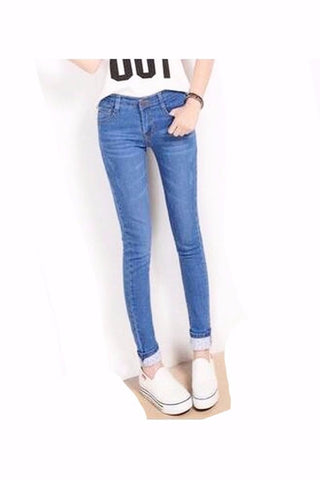 Two Cuffs Worn Women's Jeans - Proud Girl