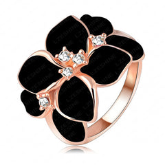 Rose Gold Austrian Crystal Finger Ring - Proud Girl