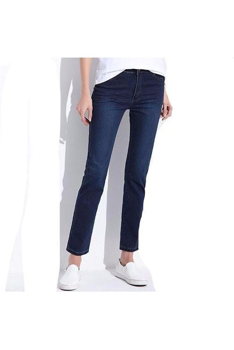 Women's Blue Elastic Jeans - Proud Girl