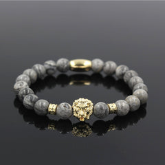 Natural Stone Lion Head Bracelet - Proud Girl