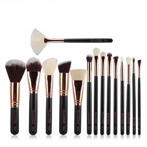 15 Pcs Complete  Makeup Brushes Set - Proud Girl
