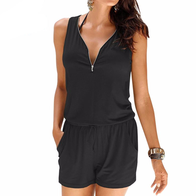 Women's Beach Sleeveless Jumpsuit - Proud Girl