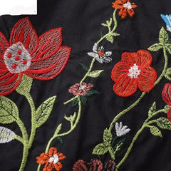 Flower embroidery shirts - Proud Girl