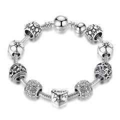 Antique Silver Charm Bracelet - Proud Girl