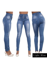 Woman's Denim Pencil Jeans - Proud Girl