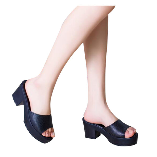 HEE GRAND Brand Peep-toe Simple Women Slides,Platform Thick Heel Shoes Woman Casual Slides Fashion Summer Slippers XWZ2899 - Proud Girl