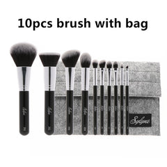 10pcs High Quality Professional Make up Brush Set - Proud Girl