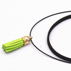 Pure Black Velvet Leather Chokers Necklace - Proud Girl