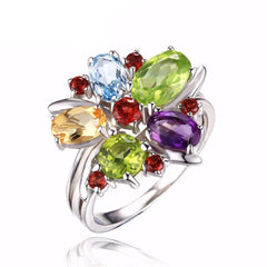Multicolor Silver Finger Ring - Proud Girl