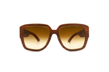 Agnus Orange Square Wooden Eyewear