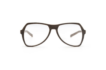MICHAEL Silver Oak Unisex Prescription Wooden Eyeglasses