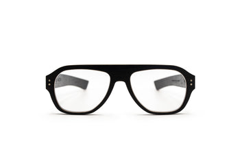 Trinity Ebony Unisex Prescription Eyeglasses