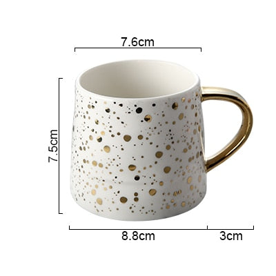 Gold Speckled Ceramic Mug