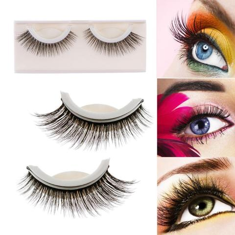 1 Pair 3D Mink False Eyelashes Self Adhesive Elegant - livecoolstuff