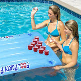 Beer Pong Table Pool Float - livecoolstuff