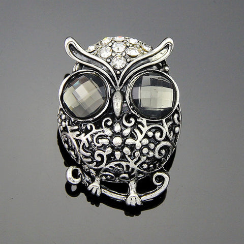 Vintage Owl  Silver Pin  Brooches - livecoolstuff