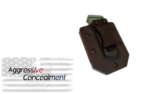 Aggressive Concealment SA911SMP Kydex Single Mag Pouch for Springfield 911 380 magazine