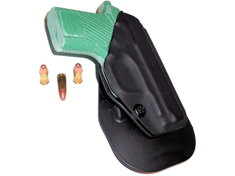 Aggressive Concealment outside the waistband paddle holster for Springfield Armory