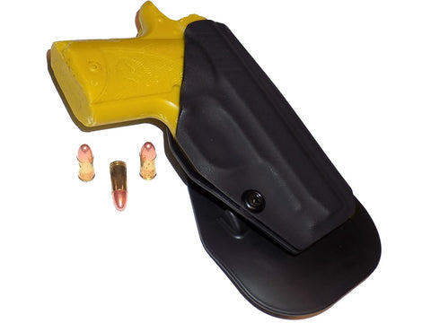 Aggressive Concealment outside the waistband paddle holster for Kimber