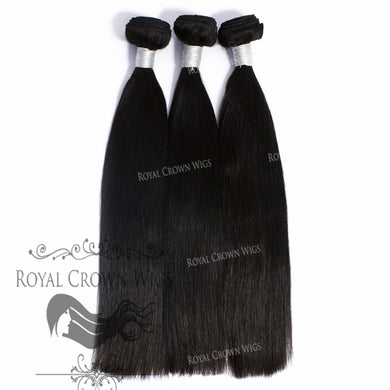 100g Brazilian Human Hair Silky Straight Wefts in Natural Color, Natural Color Weft Hair Extension, Royal Crown Wigs