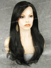 "24 inch Heat Safe Synthetic Straight Texture Lace Front ""Aphrodite"" in Natural Darkest Brown / Off Black, Synthetic Wig, Royal Crown Wigs"