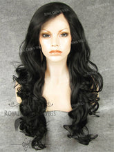 "26 inch Heat Safe Synthetic Lace Front in Curly Texture ""Calypso"" in Darkest Brown, Synthetic Wig, Royal Crown Wigs"