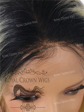 20 Inch Full Lace Human Hair Wig with Straight Texture in #613 Blonde with #1b Root, Human Hair Wig, Royal Crown Wigs