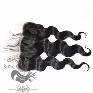 Combo Deal - 3 Brazilian Human Hair Body Wave Bundles With 4x4 Lace Closure or 13x6 Frontal, Today Only Collection, Royal Crown Wigs