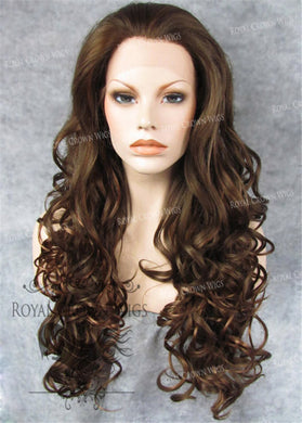 26 inch Heat Safe Synthetic Lace Front in Curly Texture