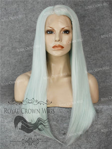 "24 inch Heat Safe Synthetic Straight Texture Lace Front ""Aphrodite"" in Ash Blue, Synthetic Wig, Royal Crown Wigs"