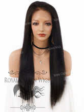 20 Inch Lace Front Human Hair Wig with Straight Texture in Natural Color 130% Density, Human Hair Wig, Royal Crown Wigs