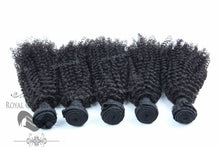 Kinky Curl Human Hair Weft, Natural Color Weft Hair Extension, Royal Crown Wigs