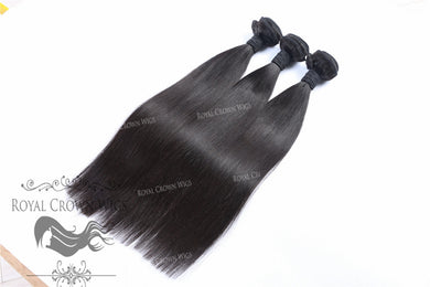Silky Straight Hair Weft, Natural Color Weft Hair Extension, Royal Crown Wigs