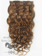 Brazilian 9 Piece Body Wave Human Hair Weft Clip-In Extensions in #30, Clip-In Hair Extension, Royal Crown Wigs