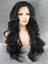 "26 inch Heat Safe Synthetic Lace Front ""Constance"" with Curly Texture in Black, Synthetic Wig, Royal Crown Wigs"