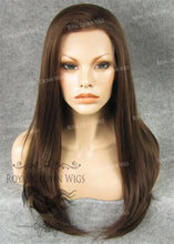 "24 inch Heat Safe Synthetic Straight Texture Lace Front ""Aphrodite"" in Warm Brown Mix, Synthetic Wig, Royal Crown Wigs"