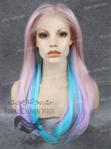 "24 inch Heat Safe Synthetic Straight Texture Lace Front ""Aphrodite"" in Galaxy Mix, Synthetic Wig, Royal Crown Wigs"
