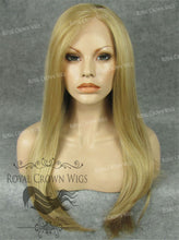 "24 inch Heat Safe Synthetic Straight Texture Lace Front ""Aphrodite"" in Golden Blonde Mix, Synthetic Wig, Royal Crown Wigs"