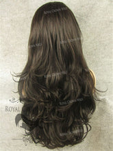 "26"" Heat Safe Synthetic Lace Front ""Constance"" with Curly Texture in Dark Brown Mix, Synthetic Wig, Royal Crown Wigs"